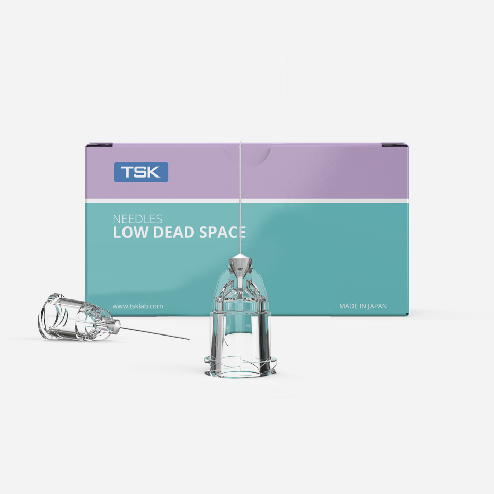 Botulinum toxin needles - LOW DEAD SPACE hub needle by TSK